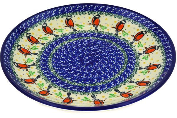 sc 1 st  Polmedia Polish Pottery & Dinner Plate 10½-inch Redbird On A Wire