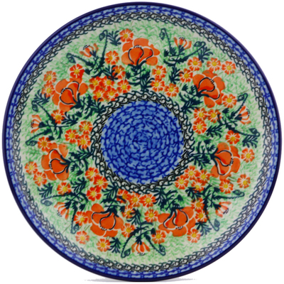 Polish Pottery Dinner Plate 10½-inch Roses Are Red UNIKAT