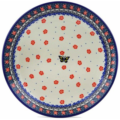 Polish Pottery Dinner Plate 10½-inch Spring Butterfly