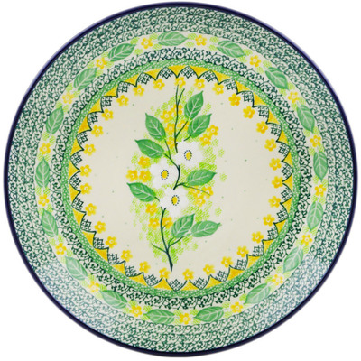Polish Pottery Dinner Plate 10½-inch Spring On The Branch UNIKAT