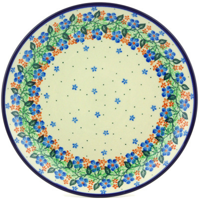 Polish Pottery Dinner Plate 10½-inch Summer Wreath