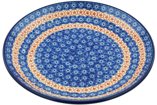 sc 1 st  Polmedia Polish Pottery & Dinner Plate 10½-inch Texas Lone Star