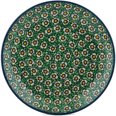 Polish Pottery Dinner Plate 10½-inch Wall Of Flowers UNIKAT