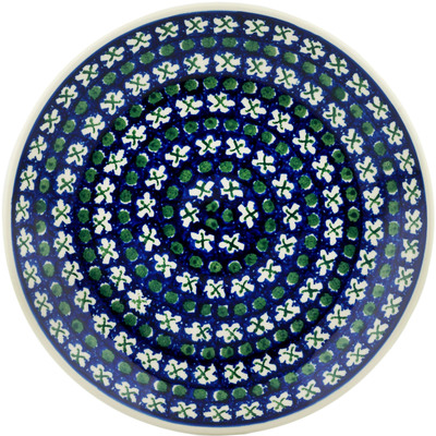Polish Pottery Dinner Plate 10½-inch X's And O's