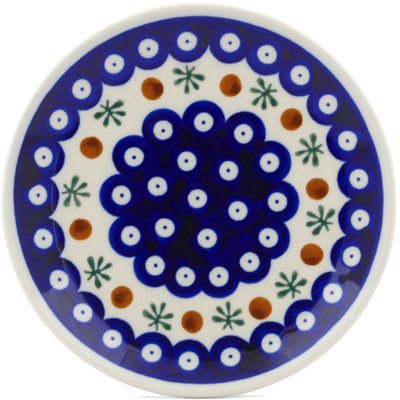 Polish Pottery Divided Dessert Plate Mosquito