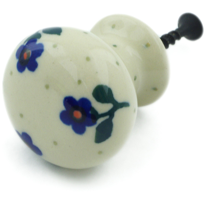 "Polish Pottery Drawer Pull Knob 1"" Auntie Em"