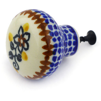 "Polish Pottery Drawer Pull Knob 1"" Southern Trail"