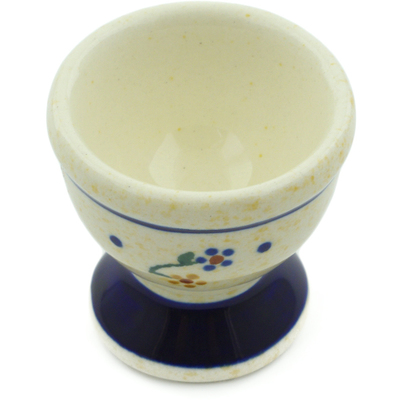 "Polish Pottery Egg Holder 2"" Country Meadow"