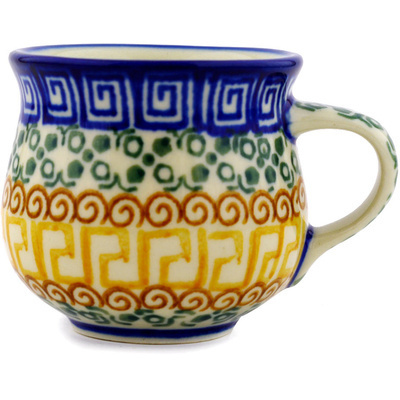Polish Pottery Espresso Cup 2 oz Grecian Sea