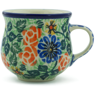 Polish Pottery Espresso Cup 2 oz Poetry UNIKAT