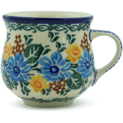Polish Pottery Espresso Cup 2 oz Star Power UNIKAT