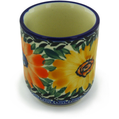 Polish Pottery Espresso Cup 2 oz Summer Dance UNIKAT