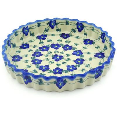 Polish Pottery Fluted Pie Dish 10  UNIKAT  sc 1 st  Polmedia Polish Pottery & Fluted Pie Dish 10