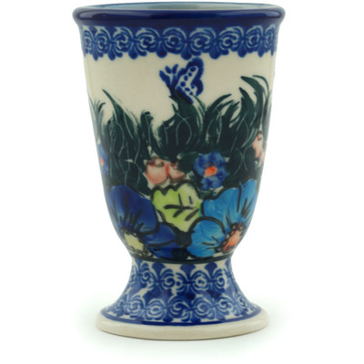 Polish Pottery Goblet 7 oz Butterfly Splendor UNIKAT
