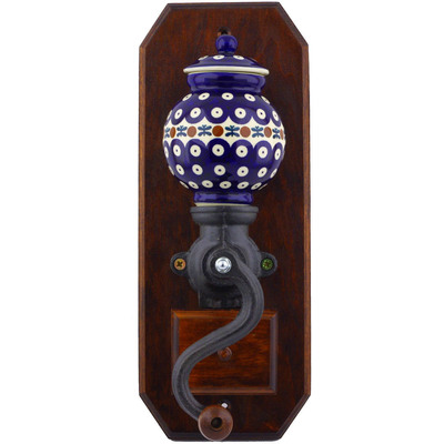 "Polish Pottery Hanging Coffee Grinder 14"" Mosquito"