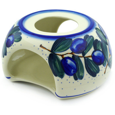 "Polish Pottery Heater 6"" Grape Vines UNIKAT"