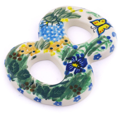 Polish Pottery House Number EIGHT (8) 4-inch Spring Garden UNIKAT