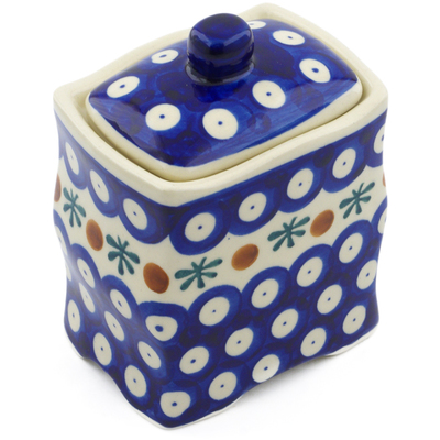 "Polish Pottery Jar with Lid 4"" Mosquito"