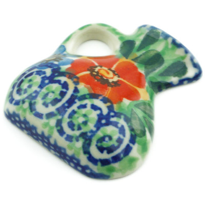 "Polish Pottery Magnet 2"" Red Poppy Delight UNIKAT"