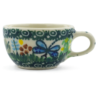 "Polish Pottery Mini Cup 2"" Garden Delight UNIKAT"