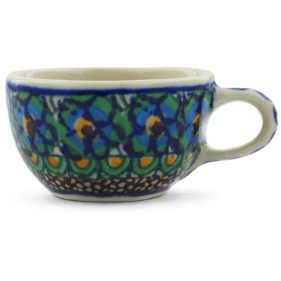 "Polish Pottery Mini Cup 2"" Mardi Gra UNIKAT"