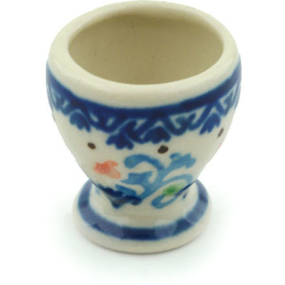 "Polish Pottery Mini Goblet 1"" Orange Tulips UNIKAT"