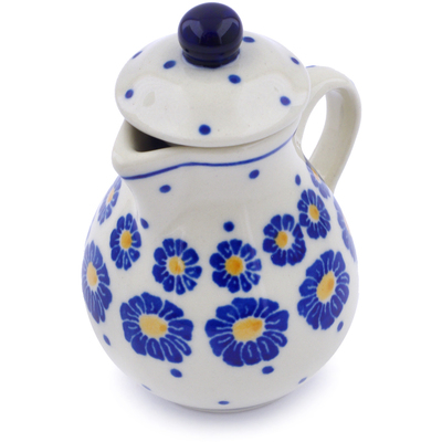 "Polish Pottery Mini Jug 3"" Flower Pads"