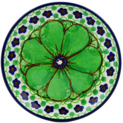 Polish Pottery Mini Plate Key Lime Dreams UNIKAT