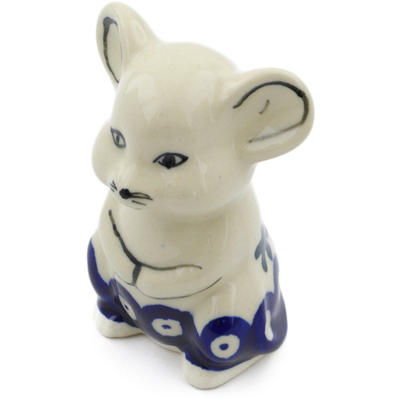 "Polish Pottery Mouse Figurine 3"" Mosquito"
