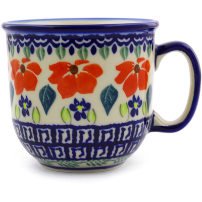 Polish Pottery Mug 10 oz Grecian Fields