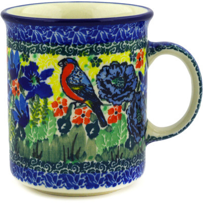 Polish Pottery Mug 10 oz Morning Song UNIKAT