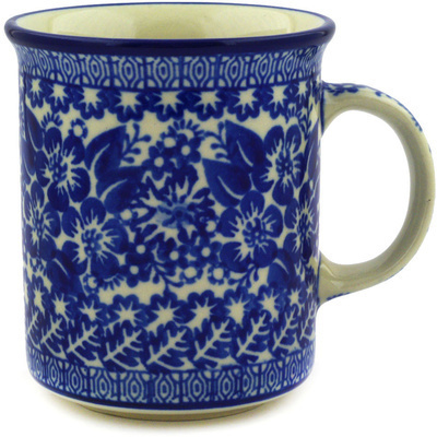 Polish Pottery Mug 10 oz Provencal Flowers UNIKAT