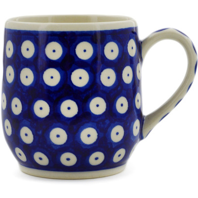 Polish Pottery Mug 11 oz Blue Eyed Peacock