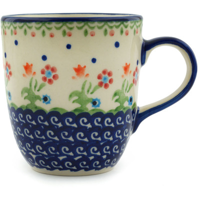 Polish Pottery Mug 11 oz Spring Flowers