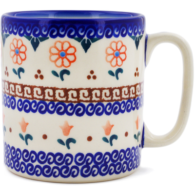 Polish Pottery Mug 12 oz Amarillo