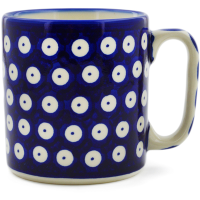 Polish Pottery Mug 12 oz Blue Eyed Peacock