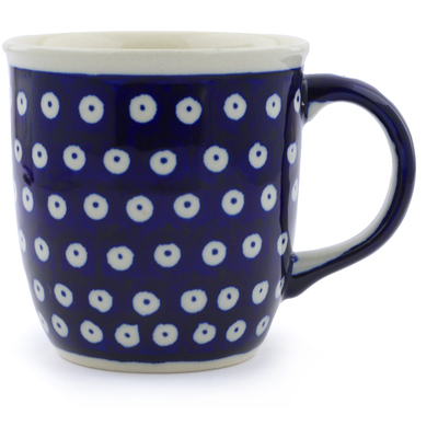 Polish Pottery Mug 12 oz Blue Eyes