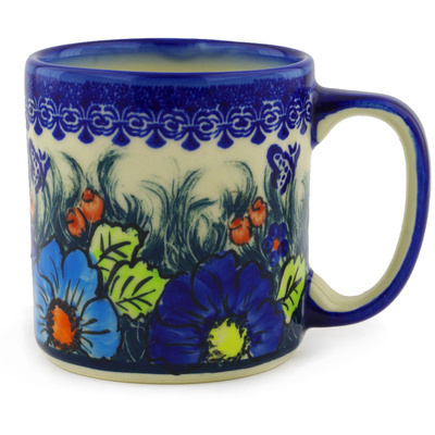 Polish Pottery Mug 12 oz Butterfly Splendor UNIKAT