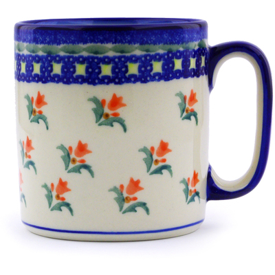 Polish Pottery Mug 12 oz Cocentric Tulips