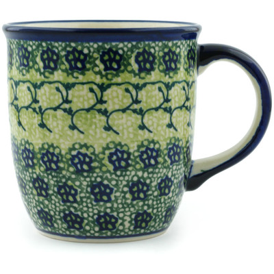Polish Pottery Mug 12 oz Emerald Forest