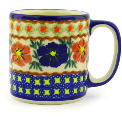 Polish Pottery Mug 12 oz Paradise Poppy