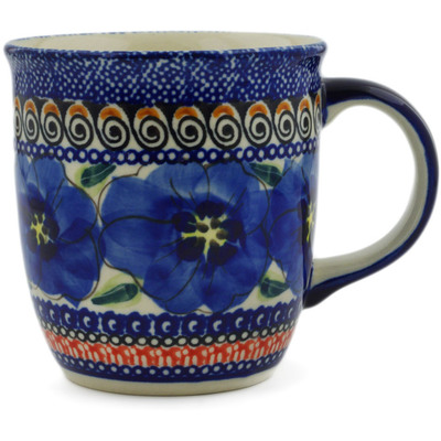 Polish Pottery Mug 12 oz Regal Bouquet UNIKAT