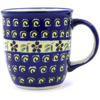 Polish Pottery Mug 12 oz Stargazer Fields