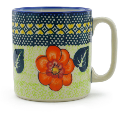 Polish Pottery Mug 12 oz Summer Poppies UNIKAT