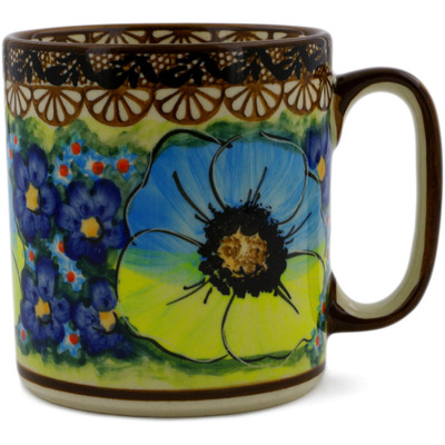 Polish Pottery Mug 12 oz Sweet Emotions UNIKAT