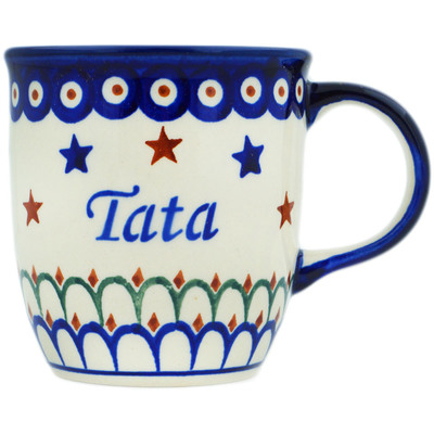 Polish Pottery Mug 12 oz Tata-dad