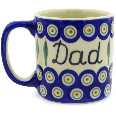 Polish Pottery Mug 12 oz Tata Dad