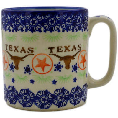 Polish Pottery Mug 12 oz Texas State