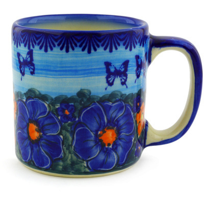 Polish Pottery Mug 12 oz UNIKAT