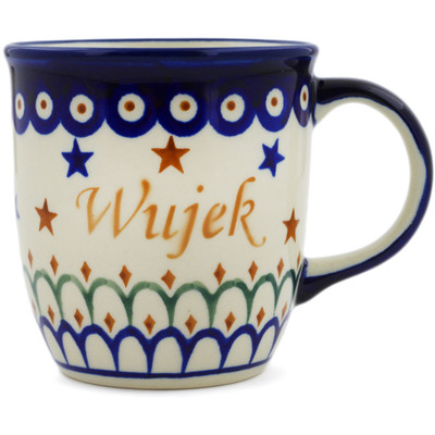 Polish Pottery Mug 12 oz Wujek-uncle